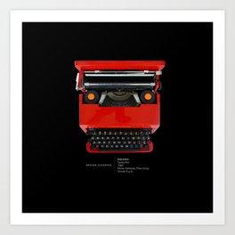 Classic Olivetti Valentine Typewriter Art Print