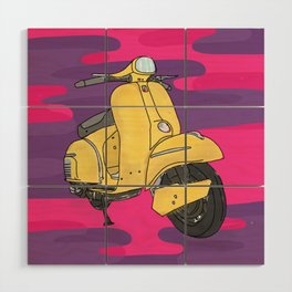 Scooter Wood Wall Art