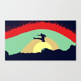 Colorful Karate Kick Canvas Print