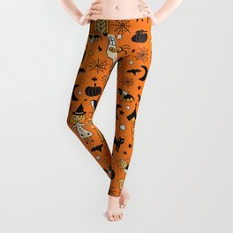 Halloween Witch House Leggings