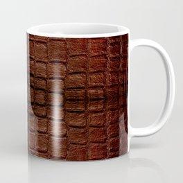 Dark brown snake leather cloth imitation Coffee Mug