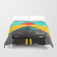 mad max Duvet Covers featuring Max is Mad by Bakus