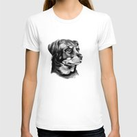 rottweiler T-shirts featuring Rottweiler Devotion by Patricia Howitt