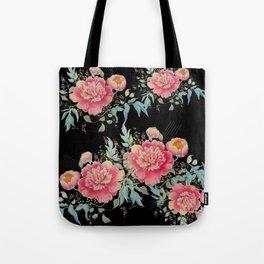 Gipsy paeonia in black Tote Bag