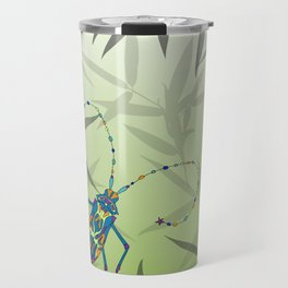 Insect Bamboo leaves Green Unique Pattern Travel Mug