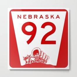 Nebraska State, Road 92 Metal Print