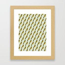 Helmeted Honeyeater | Pattern Framed Art Print