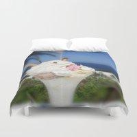 ice cream Duvet Covers featuring Ice Cream by MehrFarbeimLeben