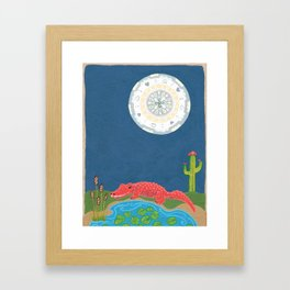 GatorMoon Framed Art Print