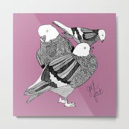 purple pigeons Metal Print