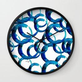 Enso Of Zen No. 20 by Kathy Morton Stanion Wall Clock