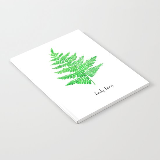 Lady fern Notebook
