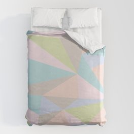 Pastel Triangles Duvet Cover