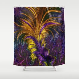 Fractal feather Shower Curtain