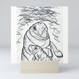 Magnificent Manatees Mini Art Print
