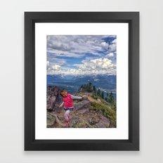 lilo dancing Framed Art Print