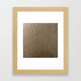 gold glitter photo Framed Art Print