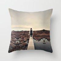 boardwalk empire Throw Pillows featuring Boardwalk by James McKenzie