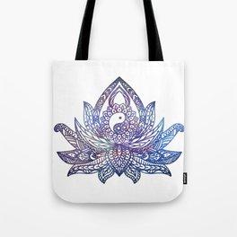 Yin Yang Lotus - Galaxy Tote Bag