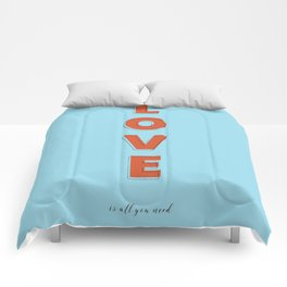 Love is all - typography Comforters