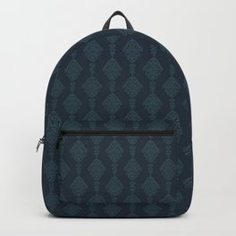 The Cannibal's Bedroom - Damask Blue and Teal Backpack