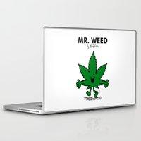 weed Laptop & iPad Skins featuring Mr Weed by NicoWriter