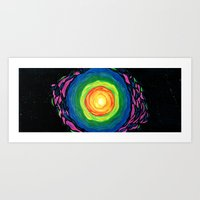 big bang Art Prints featuring Big Bang by Shalimar Luis