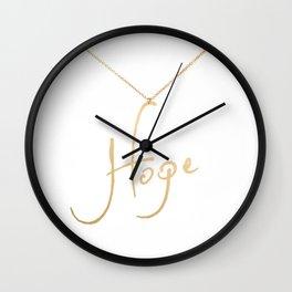 Hope pendant Wall Clock