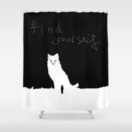 Find Yourself -Fox Spirit Animal Shower Curtain