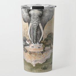 Elephant tea time Travel Mug
