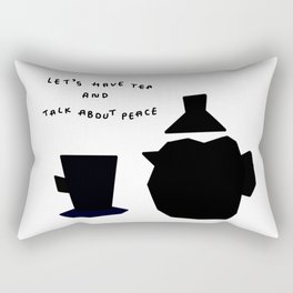 Let's Have Tea And Talk About Peace no.8 - Kitchen illustration Rectangular Pillow