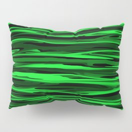 Lime Green and Black Stripes Pillow Sham