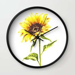 Watercolor Sunflower Wall Clock