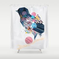 wesley bird Shower Curtains featuring Bird by LORNAldt
