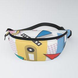 Tape Cassette Pattern Fanny Pack