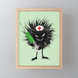 Evil Bug Nurse With Syringe Framed Mini Art Print