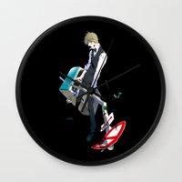 durarara Wall Clocks featuring Heiwajima Shizuo 1 by Prince Of Darkness