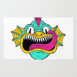 Monster Dragon Face Rug