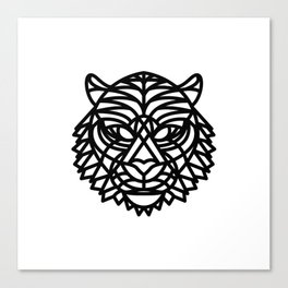 Tiger Head (Geometric) Canvas Print