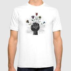 Flower Power Mens Fitted Tee MEDIUM White