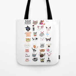The Many Moods of Cats Tote Bag