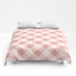 Diagonal buffalo check pale pink Comforters