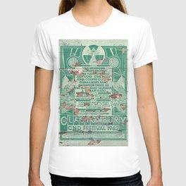 Distressed Glastonbury 1982 Poster T-shirt