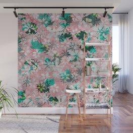 Autumn Petals on Candy Floss Wall Mural