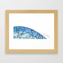 Energy Star Texture Framed Art Print