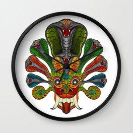 Sri Lanka Devil Mask (Naga Raksha Mask, Yaka Mask)  Wall Clock