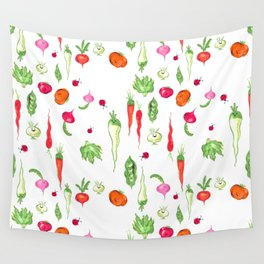 Veggie Party Pattern Wall Tapestry