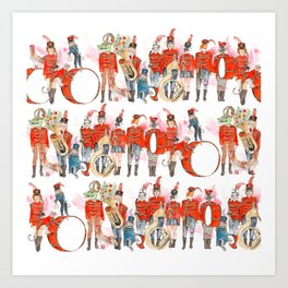 Marching Band Art Print