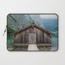 Cottage in a misty lake Laptop Sleeve