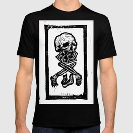 Modeled by Society T-shirt